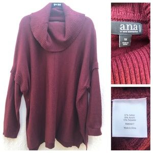 ANA A New Approach Woman Cowl Neck Sweater